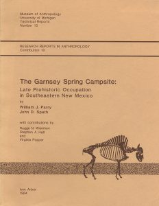 The Garnsey Spring Campsite: Late Prehistoric Occupation in Southeastern New Mexico