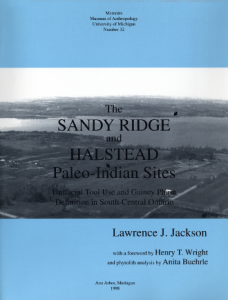 The Sandy Ridge and Halstead Paleo-Indian Sites: Unifacial Tool Use and Gainey Phase Definition in South-Central Ontario