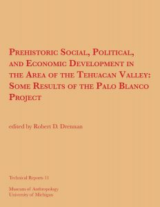 Prehistoric Social, Political, and Economic Development in the Area of the Tehuacan Valley: Some Results of the Palo Blanco Project
