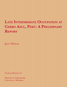 Late Intermediate Occupation at Cerro Azul, Perú: A Preliminary Report
