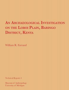 An Archaeological Investigation on the Loboi Plain, Baringo District, Kenya