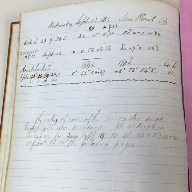 Above is the most important development in this logbook. Watson appears to believe he found a new planet here.