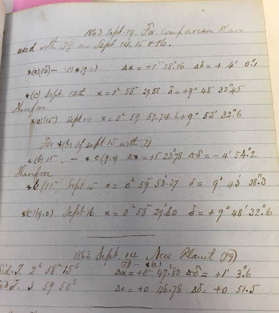 Pictured above is an example of the typical format for a logbook page