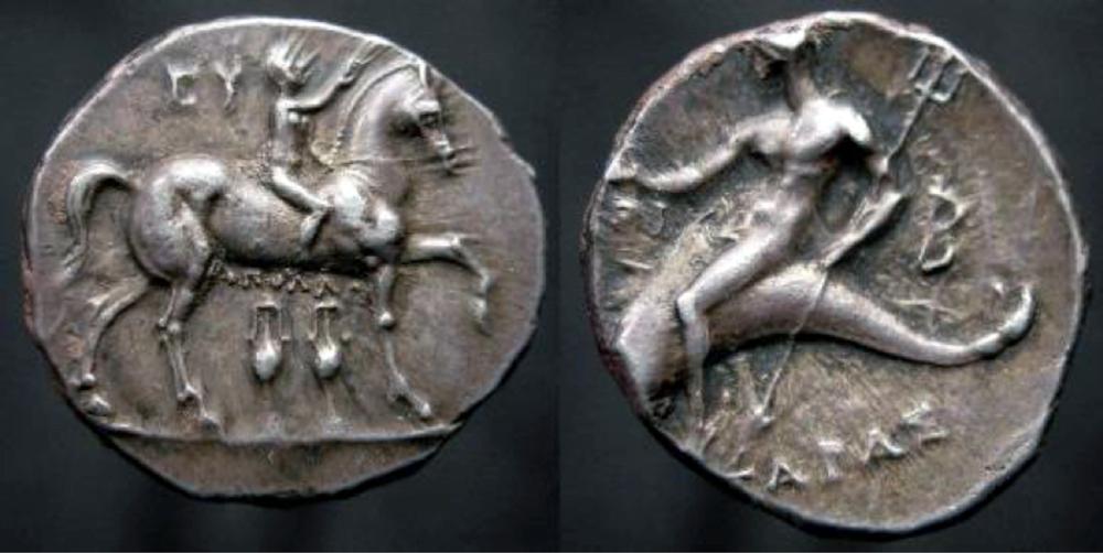 AR didrachm / stater Calabria, Tarentum 272-240 B.C