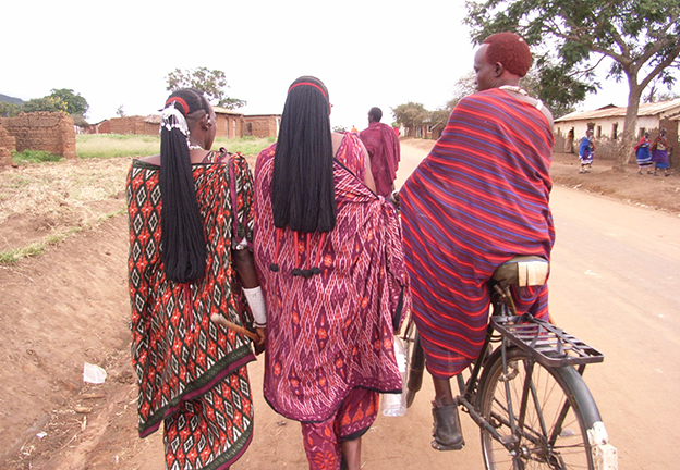 BODY & GENDER. Parakuyo Maasai warriors with carefully coiffed hair (Askew)