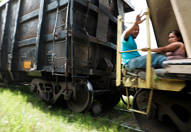 MIGRATION. Central American migrants ride the Mexican freight trains known as -La Bestia- (The Beast) towards the U.S.-Mexico border (de Leon)