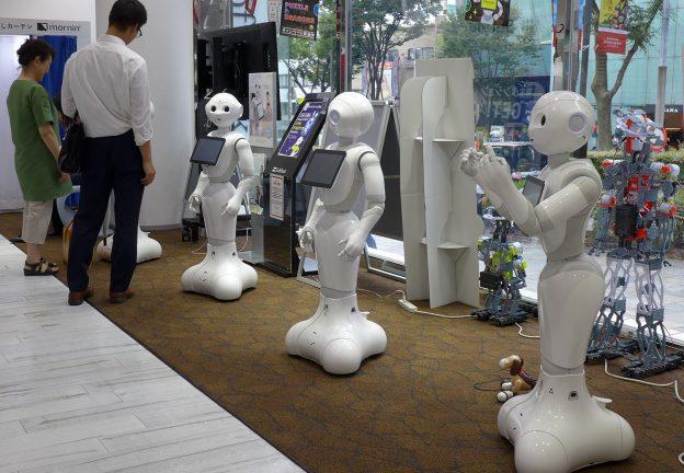 TECHNOLOGY. Pepper, Softbank's humanoid robot. Harajuku, Tokyo (Robertson)
