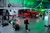 The JILA MONSTR (Multidimensional Optical Nonlinear SpecTRometer) used to study the coupling of multiple excitons in quantum wells. Credit: Brad Baxley, JILA