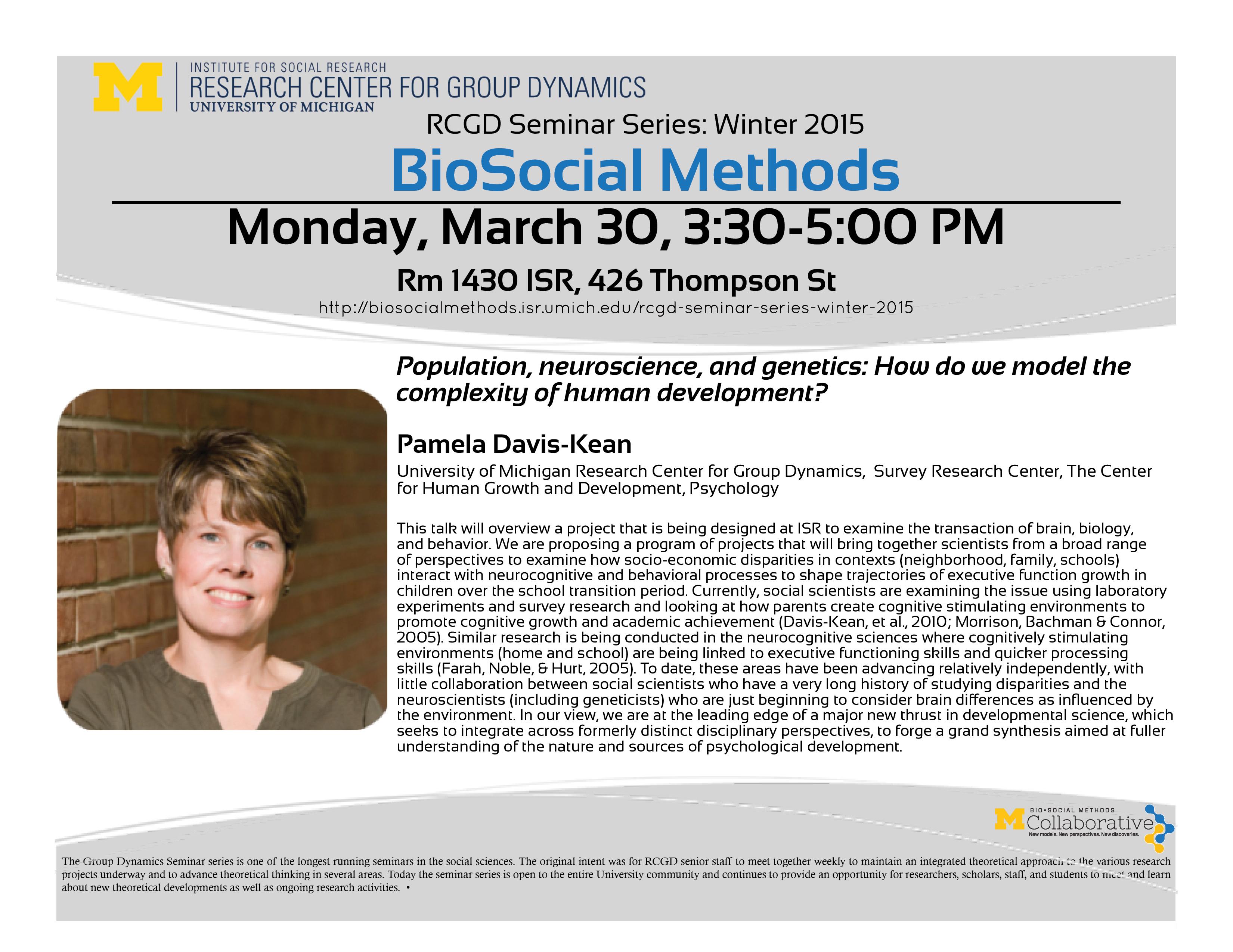 RCGD Seminar_Pam Davis-Kean
