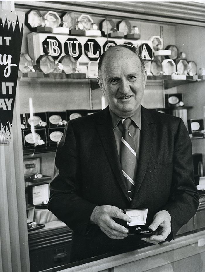 Charles Rosenbaum at Max's Jewelry store