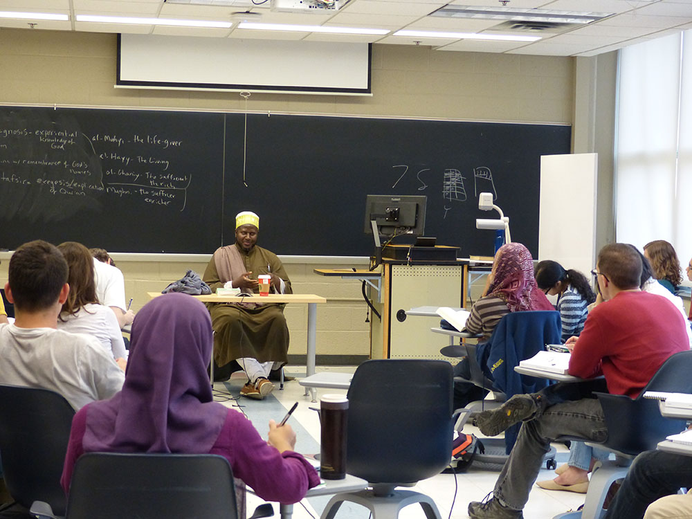 "Imam Fode Drame gives a guest lecture on his book ""The 99 Names of Allah"""