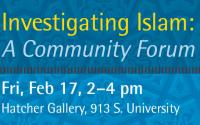 "Live Stream ""Investigating Islam: a Community Forum"""