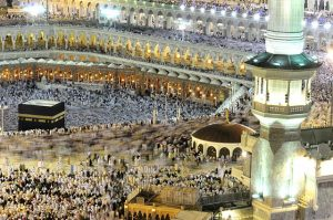 This is an image of the masjid al-haram during the 2010 hajj