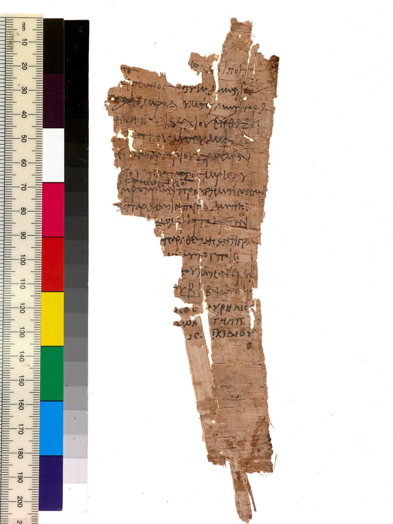 Papyrus fragment P.Mich.inv. 5451f. Photo by Randal Stegmeyer.
