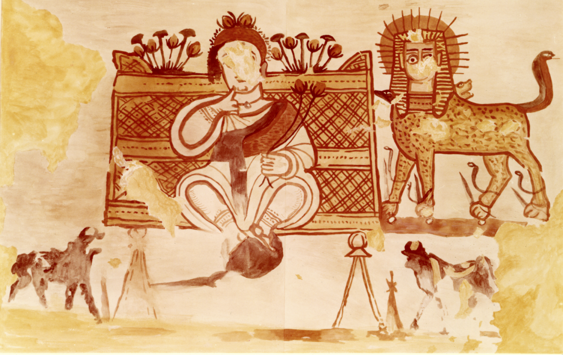 KM 4_2988 Watercolor image of the Harpocrates painting found in C65.