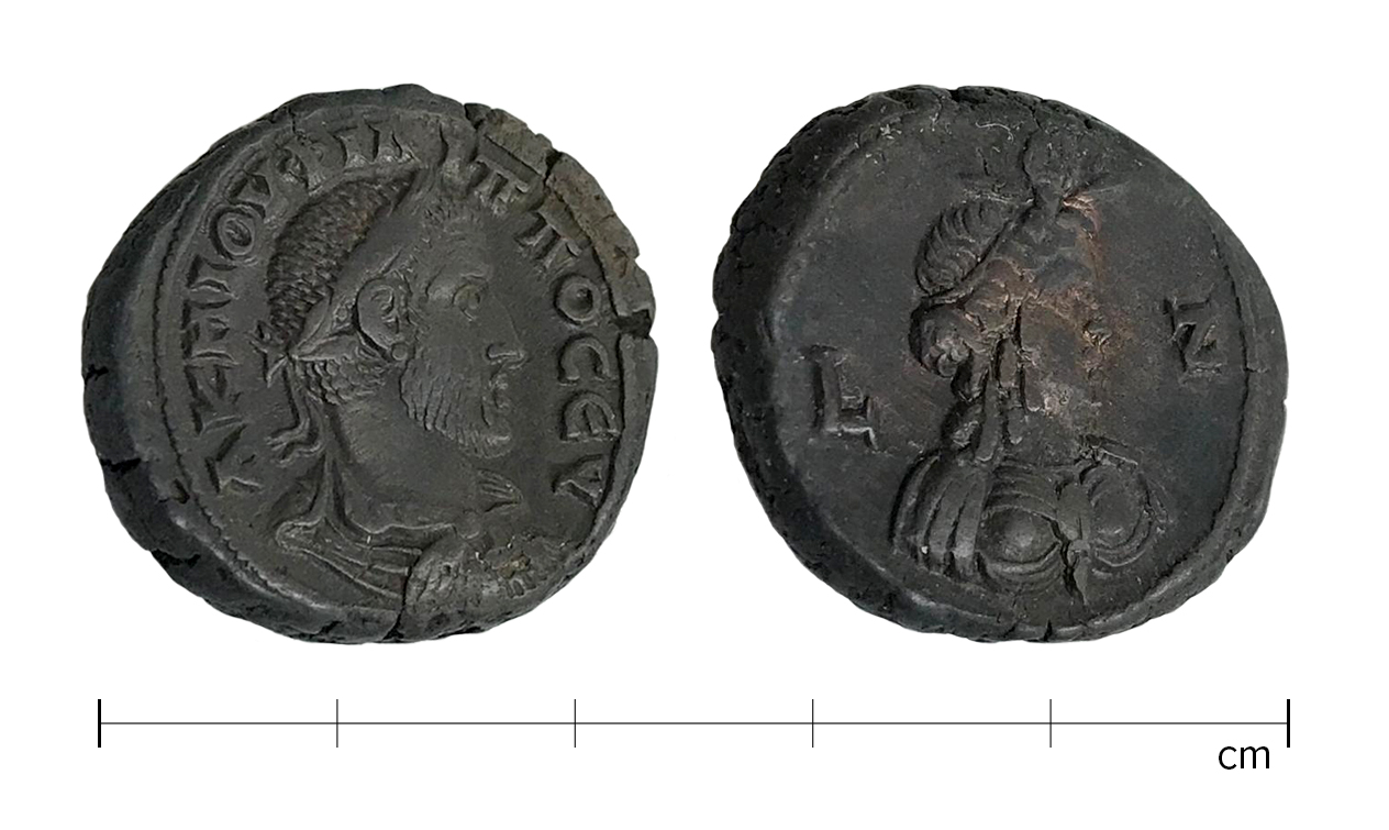 obverse and reverse of ancient coin