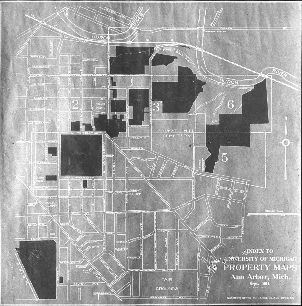 map of university of michigan