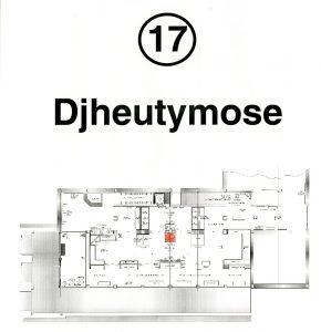 Floor plan of museum gallery
