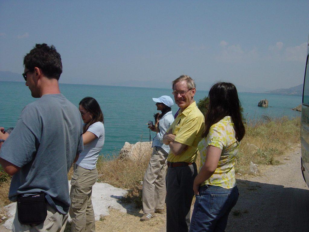 tourists at a vista