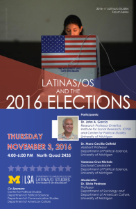 Latinas/os and the 2016 Elections @ 2435 North Quad