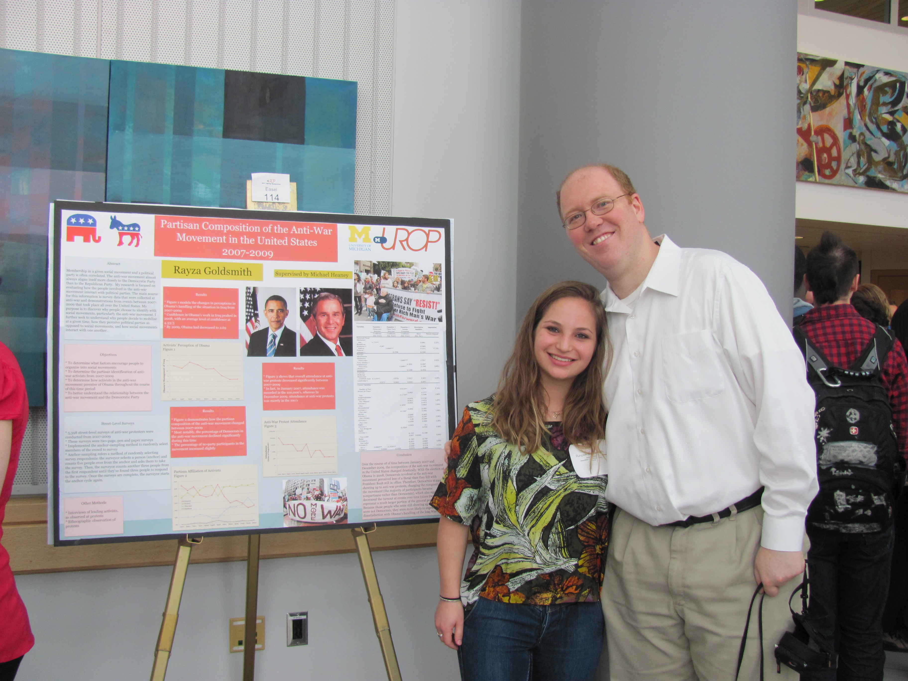michael with urop student