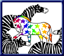 Community's informal mascot,a rainbow colored AntiZebra, symbolizes nonconformism and individuality