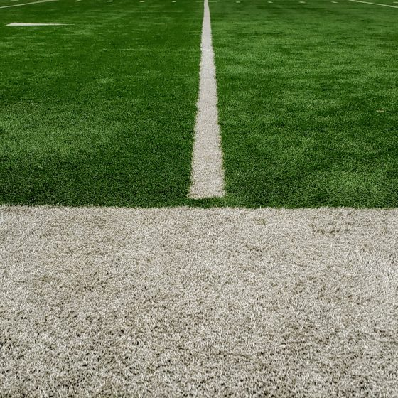 twenty yard line of a football field