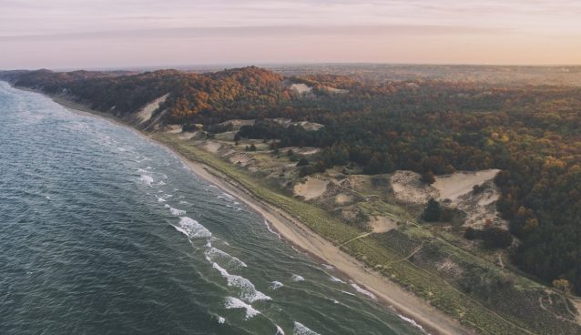 Lake Michigan, an aerial view.
