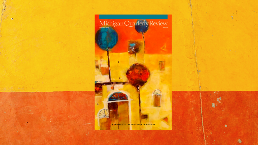 Summer 2020 issue cover photo with orange and yellow background