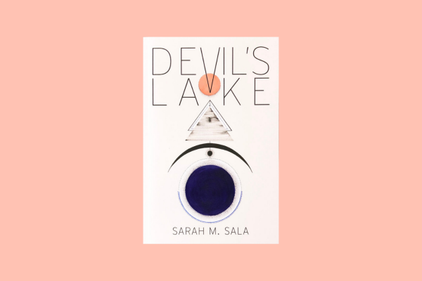 Devil's Lake by Sarah Sala Cover against a pink background