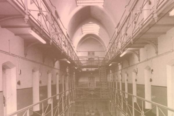 photograph of general pop prison hallway