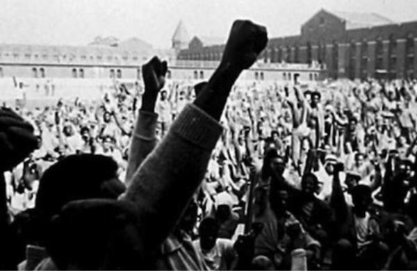 Photograph of Attica Protest