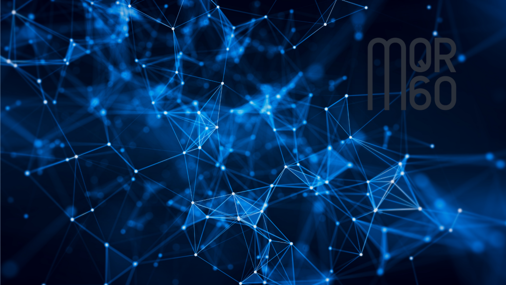 Geometric Connecting the Dots with MQR 60 Logo