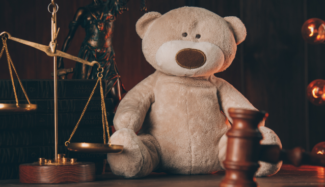 Stock Image of Teddybear with Gavel