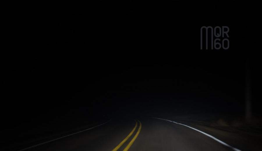 Empty Dark Road with MQR60 Logo