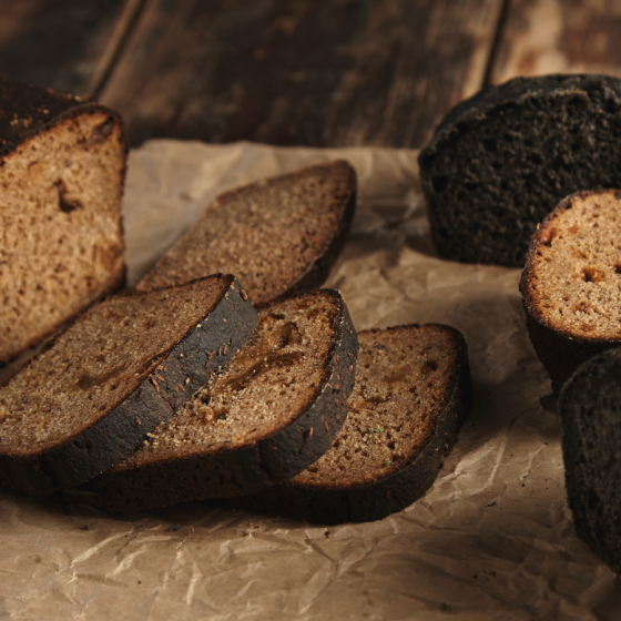 loaves of black bread