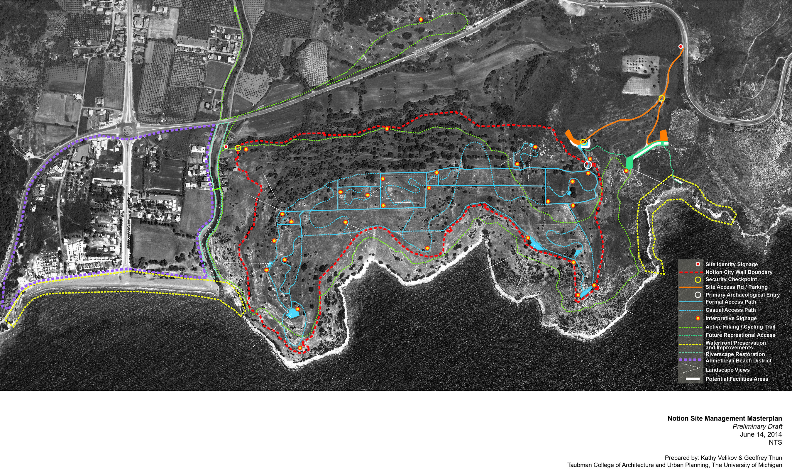 Preliminary site management plan