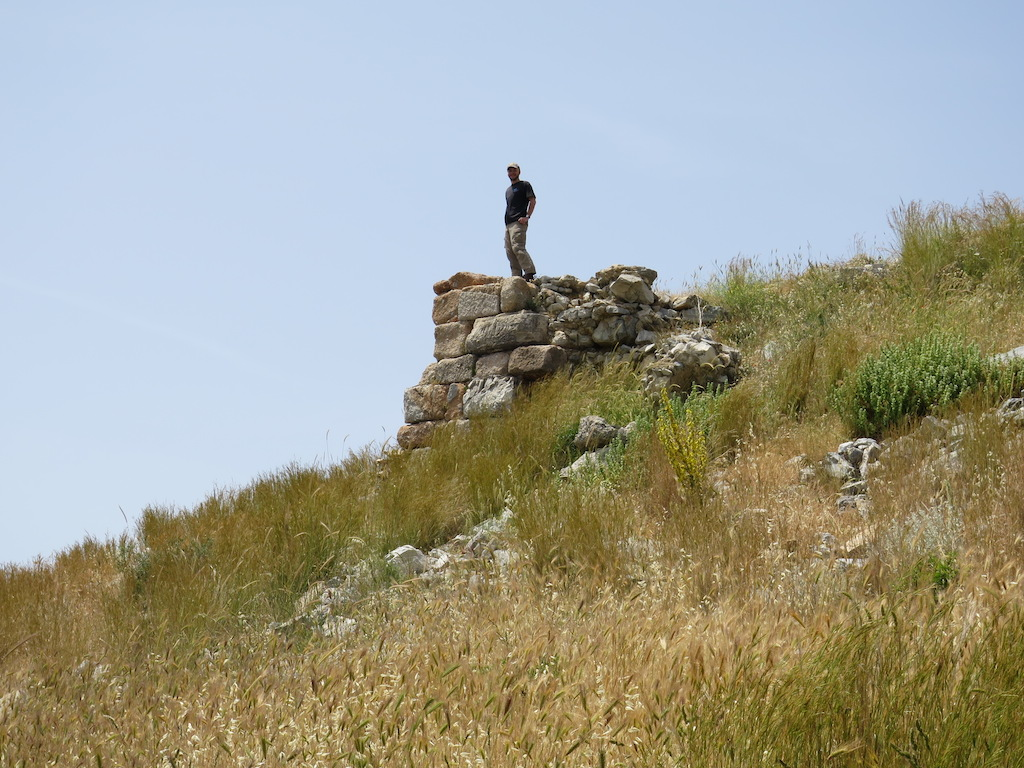 Matthew Naglak on the fortification wall
