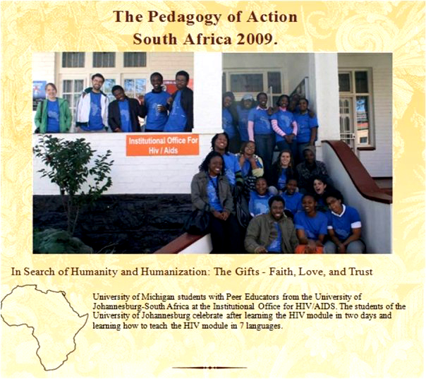 The 2009 Pedagogy of Action Team.