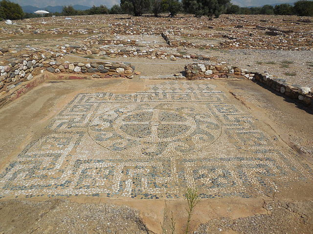 A mosaic floor at Olynthos