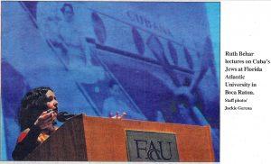 Ruth Behar speaking at FAU