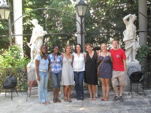 Ruth with UMICH students in Cuba, 2011
