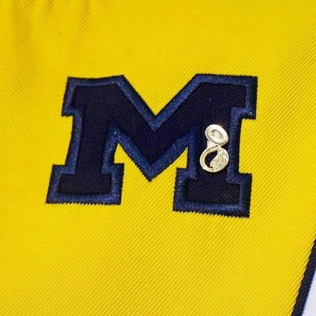 Michigan Marching Band members honored the memory of Barry Zeltzerhellip
