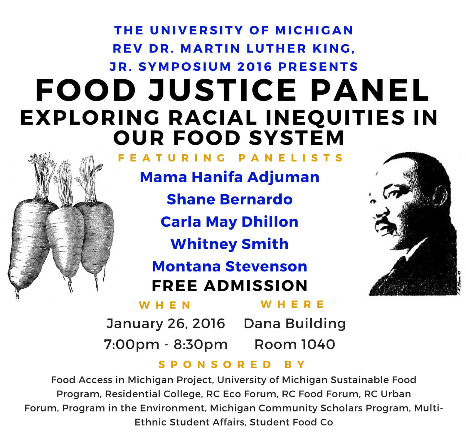 Food Justice Panel: Exploring Racial Inequities in the Food System (Jan 26)