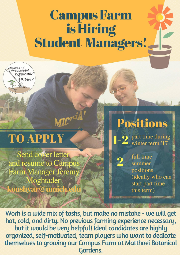 campus farm hiring