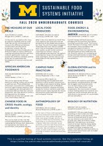Undergraduate Food Systems Courses