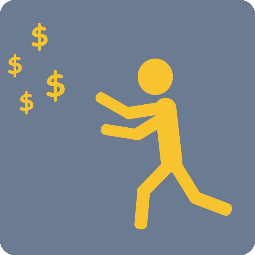 chasing money gray-yellow