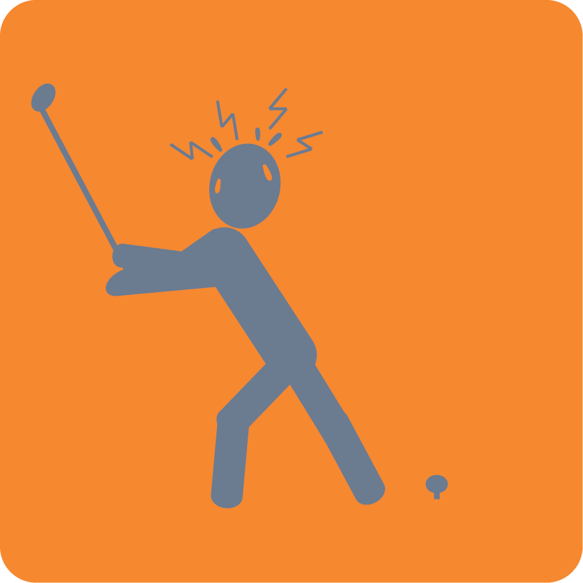 golf choking organge-gray