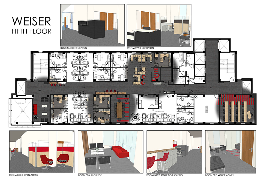 Floor Plans And Workstations Weiser Hall